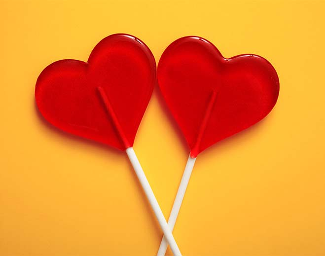 lollipop hearts